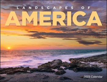 Landscapes of America Wall Calendar- Window Ad #7501