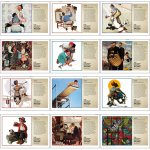 12 Pocket-Saturday Evening Post Illustrations by Norman Rockwell Wall Calendar- # 4156