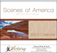 America Big Block Memo 16 Month Wall Calendar- # 1701