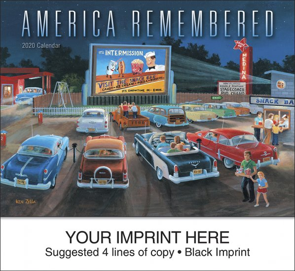 America Remembered 13-Month Full-Size Wall Calendar- #829 - Click Image to Close