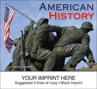 American History 13-Month Full-Size Wall Calendar- #839