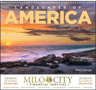Landscapes of America Wall Calendar - Spiral #7001