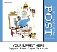 Saturday Evening Post 13-Month Full Size Wall Calendar- #819