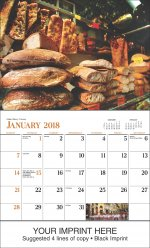 Italy 13-Month Full-Size Wall Calendar #897
