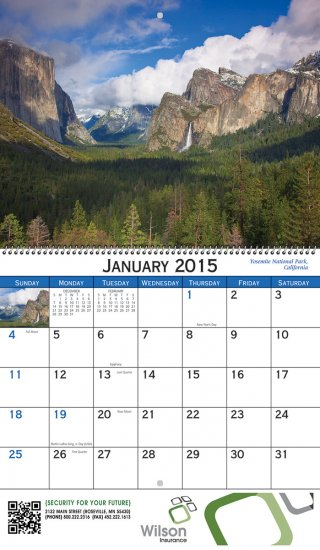 American Scenic 13 Month Spiral Bound- # 245 - Click Image to Close