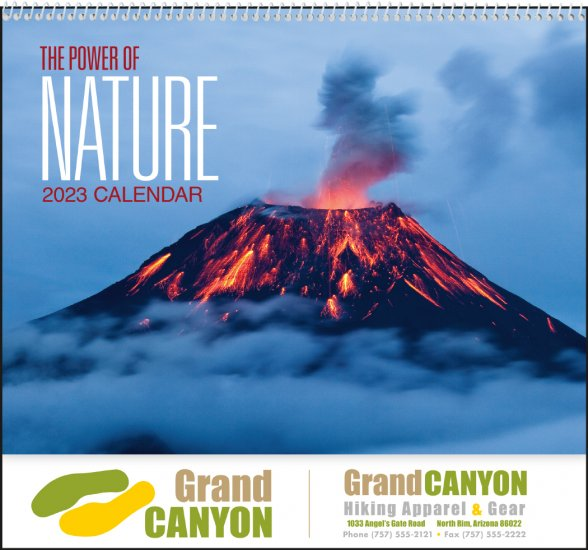 Power of Nature - Spiral Bound Wall Calendar #7103 - Click Image to Close