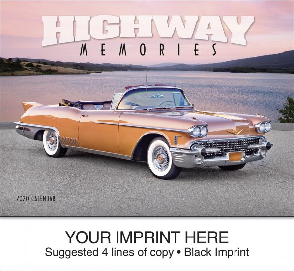 Highway Memories 13-Month Full-Size Wall Calendar- #832 - Click Image to Close
