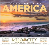 Landscapes of America Stapled Wall Calendar #7201